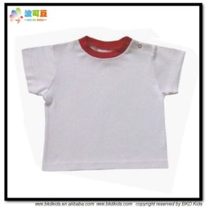 Plain Dyed Baby Clothes White Infant Shirts pictures & photos
