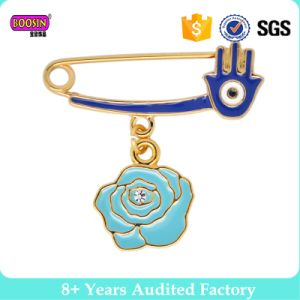 Angel Hands Enamel Gold Fillled 2017 Flower Unique Hijab Pins pictures & photos