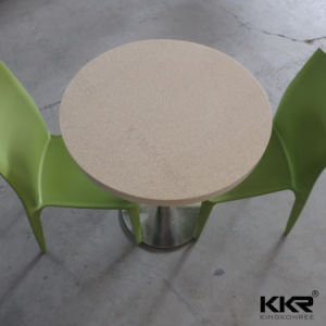 Artificial Marble Stone Round Beige Dining Table pictures & photos