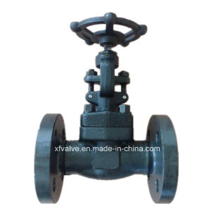 DIN Pn40 Forged Steel A105 Flange Connection End Globe Valve pictures & photos
