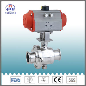 Stainless Steel Pneumatic Butterfly Valve for Pharmacy, Food and Beverage Processing pictures & photos