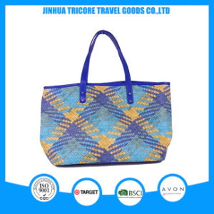 2016 Good Quality Knit PU Tote Bag Beach Bag pictures & photos