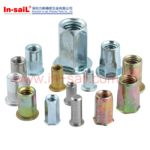Flat Flange Head Brass Customized Knurled Body Blind Rivet Nut pictures & photos