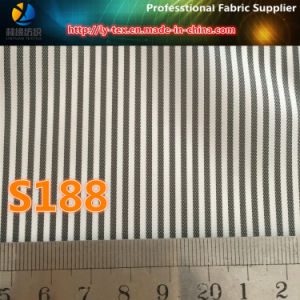 Cheap Polyester Twill Yarn Dyed Stripe Suit Lining Fabric (S187.188) pictures & photos