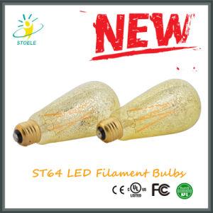 St64/St20 Gold Foil LED Filament Squirrel Cage Bulb