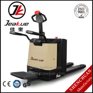 2000kg 2500kg Stand-on Electric Pallet Truck pictures & photos