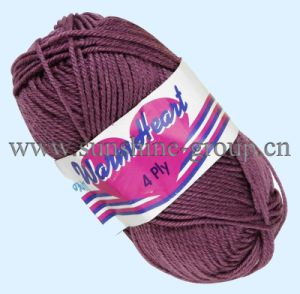High Quality Colorful Crochet Yarn 8s/4 pictures & photos