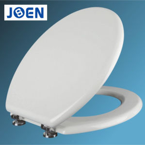 18inch MDF White Soft Close Toilet Seat Cover with Zinc Alloy/Plastic Hinges pictures & photos