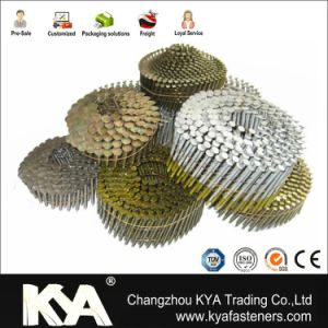 Zinc Yellow Collated Nails for Construction and Packaging pictures & photos