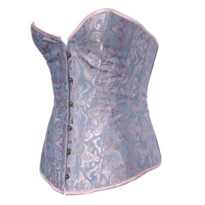 Women′s Blue Vest Latex Corset Latex Waist Trainer Cincher Corset pictures & photos