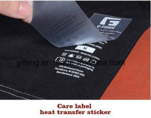 Heat Transfer Sticker Neck Size Tongue Content Care Labels Printing for Garment / Shoes pictures & photos