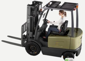 3 Ton 3000kg 4 Wheel Curtis Controller AC Motor Triplex Mast Electric Forklift Truck pictures & photos