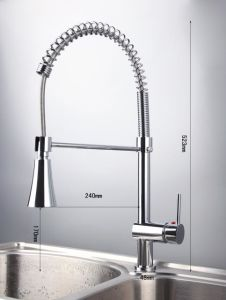 Ce Pull out Spout LED Kitchen Sink Faucet Mixer Without Battery pictures & photos