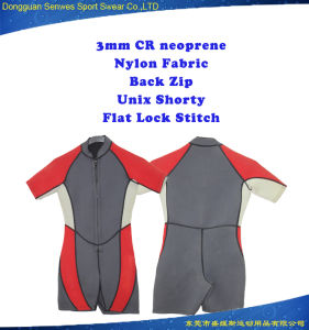Neoprene Super Stretch Front Zip Shorty Surfing Suit for Children