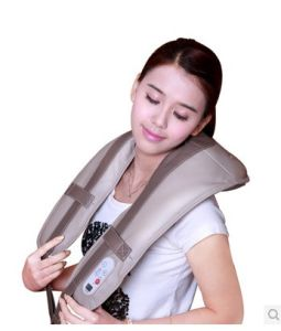 Electric Shiatsu Kneading Heating Neck and Shoulder Massager Belt pictures & photos
