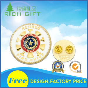 Customized Zinc Alloy Die Casting Bagde with Silver Plating pictures & photos