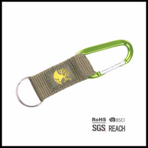 Locking Carabiner with Short Strap and Keyring, Carabiner Keychain Strap pictures & photos