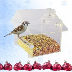 Squirrel Proof Acrylic Window Bird Feeder pictures & photos