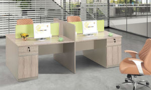 Modern Furniture Wooden Office Desk Workstation with Partition pictures & photos