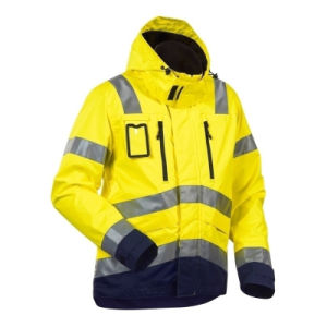 waterproof Yellow High Visibility Reflective Winter Warm Safety Jacket pictures & photos