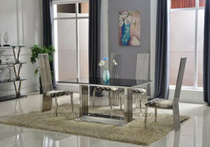 Hot Sale Stainless Steel Dining Chair Living Room Furniture Set pictures & photos