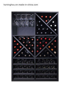 92 Bottles Wooden Drawer Wine Glass Rack Wine Storage Rack pictures & photos