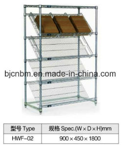 Steel Storage Wire display Shelving for Supermarket Use pictures & photos