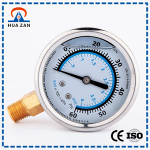 Oil Filled Water Pressure Gauge Factory Cheap Oil Pressure Gages pictures & photos