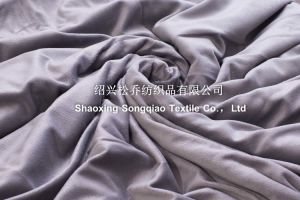 2017 Super-Soft Velour with Shu Velveteen Blanket / Sherpa Fleece Throw-Grey pictures & photos