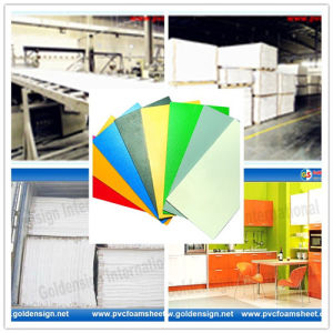 Goldensign 1-40mm PVC Foam Board/PVC Foam Sheet/PVC Construction Material/ New&Green PVC Foamed Building pictures & photos