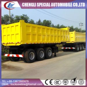 3 Axles 12 Wheel 60 Ton Tipper Semi Trailer pictures & photos
