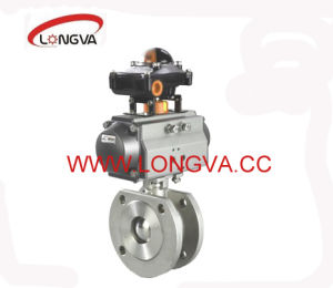 Flange Ball Valve with Pneumatic Actuator pictures & photos