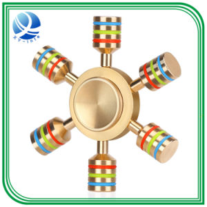 New Metal Tri-Spinner Fidget Toy EDC Hand Spinner Rotation Time Long Anti Stress Toys 5 Color High Quality pictures & photos