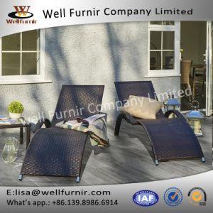 Well Furnir Aluminium Frame Perfect Design Pair Rattan Lounges pictures & photos