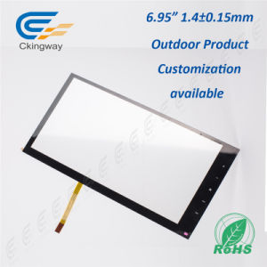 "6.95"" 4 Wire Resistive Infrared Overlay Touchscreen pictures & photos"
