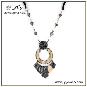 Wholesale Alloy Gun Black Plating Resin Fittings Crystal Beads Velvet Chain Jewelry Necklace pictures & photos