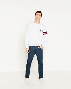 Men Straight Jeans Trouser