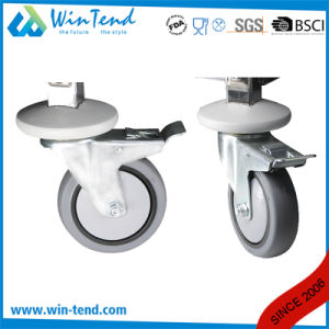 Hot Sale 4 Tier Stainless Steel Round Tube Work Trolley with TPR Wheel pictures & photos