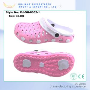 Two Tone Design Pink Women Styles EVA Clog pictures & photos