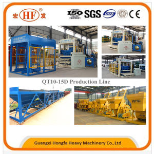 Automatic Solid Cement Brick Concrete Hollow Block Making Machine for Construction Machinery pictures & photos