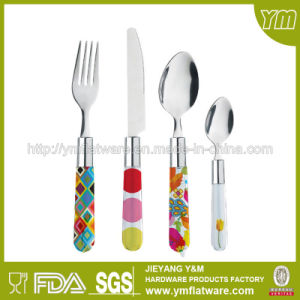 Marketing Gift Items Promotion Plastic Handle Stainless Steel Cutlery pictures & photos