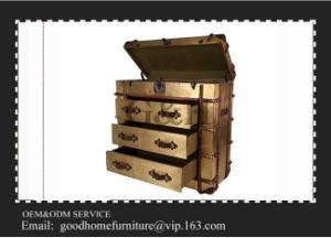 Antique Aluminium Metal TV Cabinet, Aviator Vintage Display Storage Trunk Cabinet Set pictures & photos