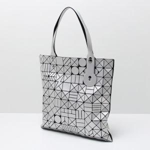 Matt Silver Geometric Patterns PU Handbag (A0119) pictures & photos