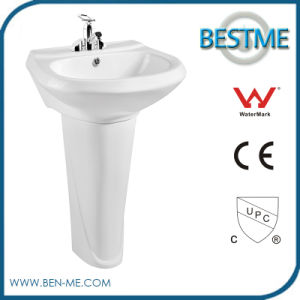 Sanitary Ware Pedestal Round Shape Basin Wash Sink pictures & photos