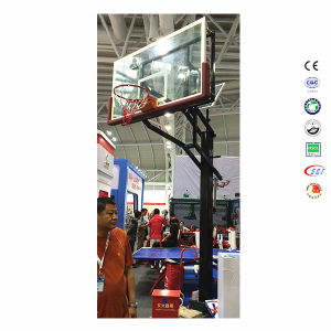 Outdoor in-Ground Black Basketball Stand Hoops, Basketball Stand Portable pictures & photos