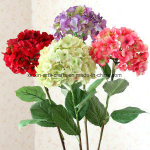 Cheap Hydrangea Real Touch Silk Artificial Decorative Flowers Wedding Flowers