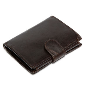 Classic New Design Leather Wallet with Snap Closure pictures & photos