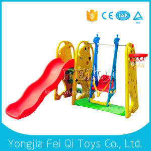 Wholesale Large Child Slide Ladder Plastic Slide Kid Slide with Swing, Plastic Basketball Stand pictures & photos