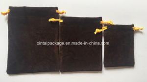 Factory Wholesale Fashion Brown Suede Drawstrings Pouches