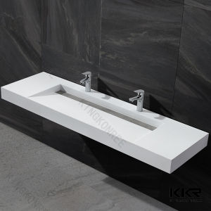 Modern Solid Surface Bathroom Wall Hung Vanity Wash Basins pictures & photos